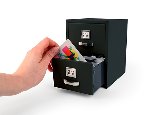 Mini drawer folders