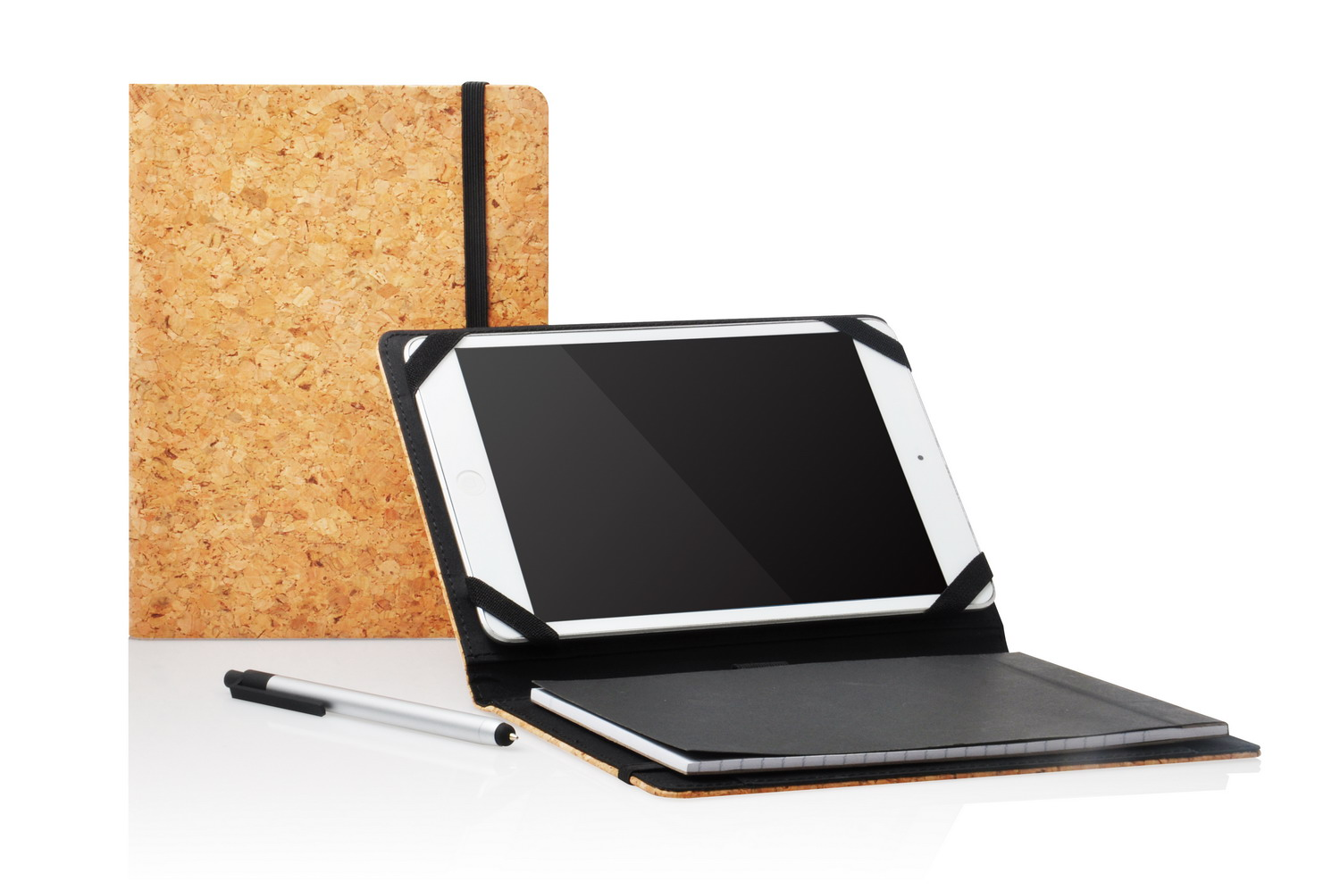 Tablet case with notebook