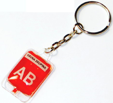 Blood donation keychain