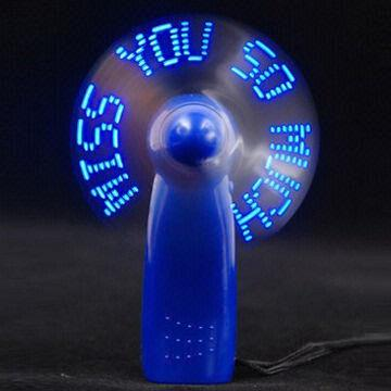 Manual fan with lighting
