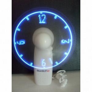 Manual fan with lighting