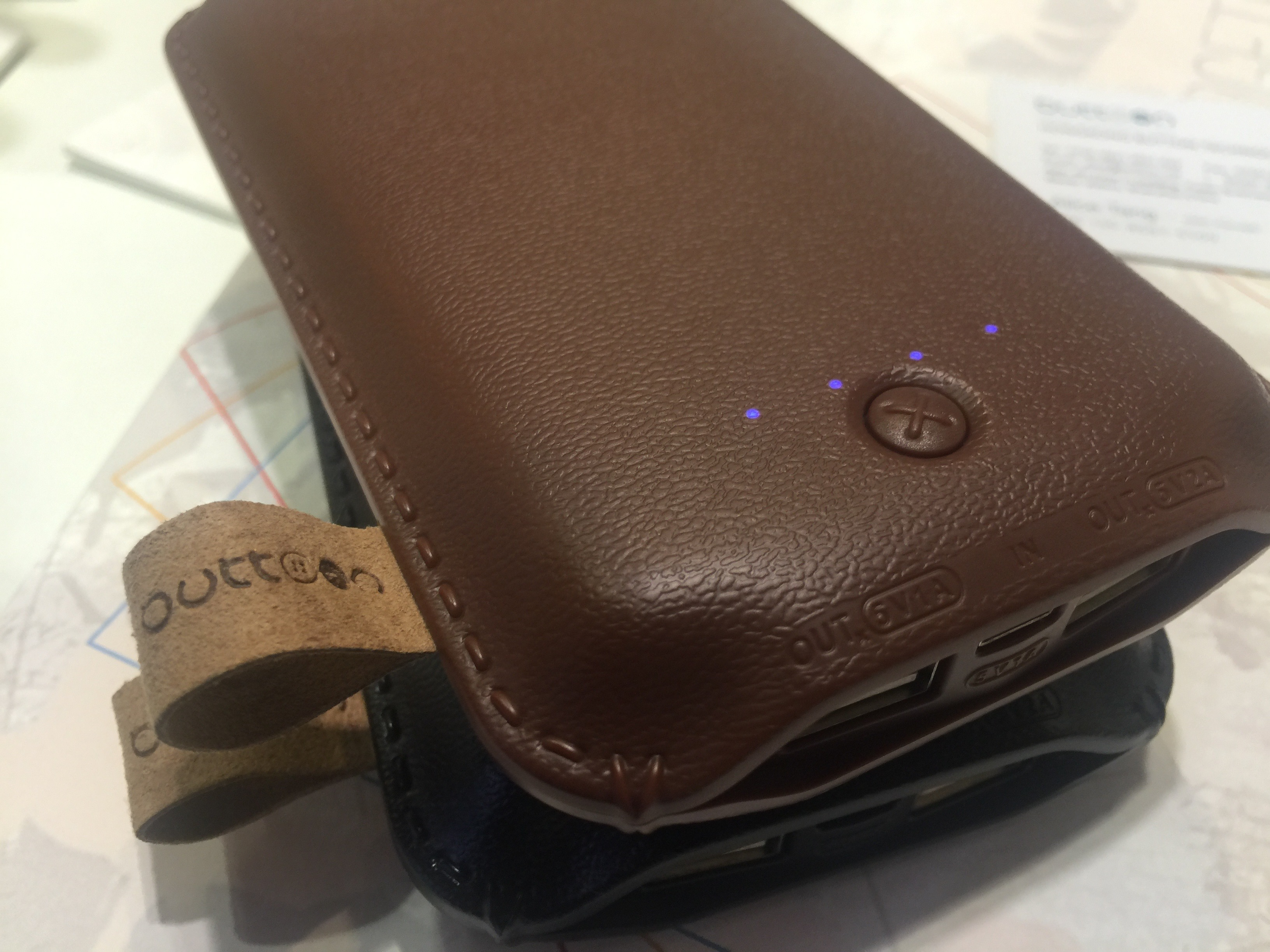 Mobile charger luxury leather