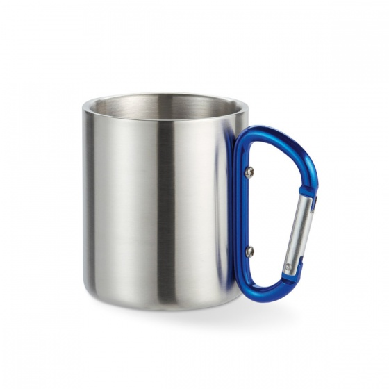 Stainless steel cup with a shackle