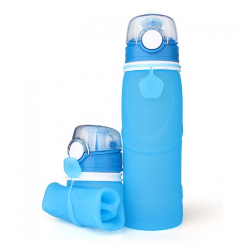 Folding drinking bottle