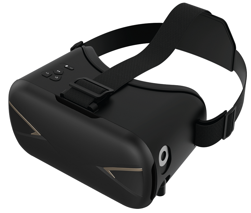 VR virtual reality goggles with headphones