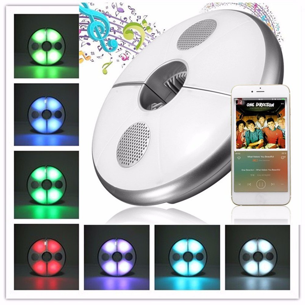 Speaker with lighting for outdoor use