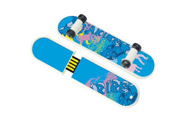 USB flash disk innovative design skateboard